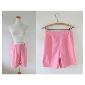 Vintage 60s Pink High Waisted Mod Shorts